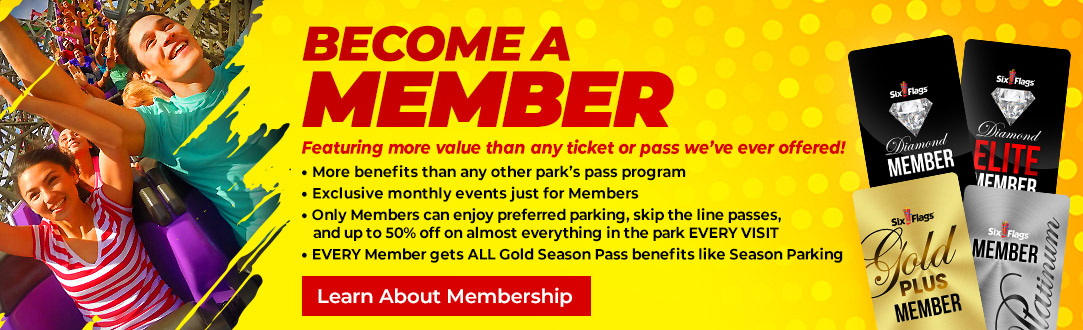 f04241282f Season Passes & Memberships | Six Flags America